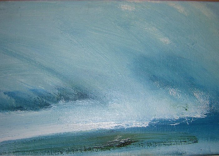 Landscape Greeting Card featuring the painting Cloud Study by Judy Blundell