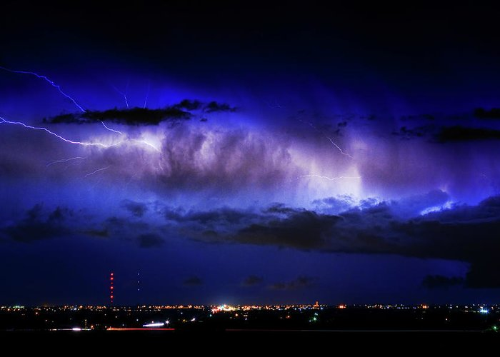 Bouldercounty Greeting Card featuring the photograph Cloud To Cloud Lightning Boulder County Colorado by James BO Insogna