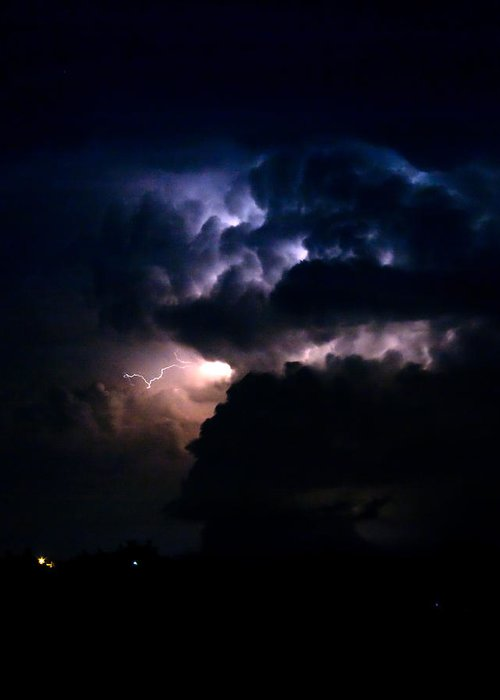 Lightning Greeting Card featuring the photograph Cloud To Cloud Lightning Photography by James BO Insogna