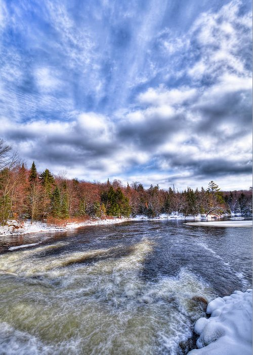 Landscapes Greeting Card featuring the photograph Clouds Above The Lock And Dam by David Patterson