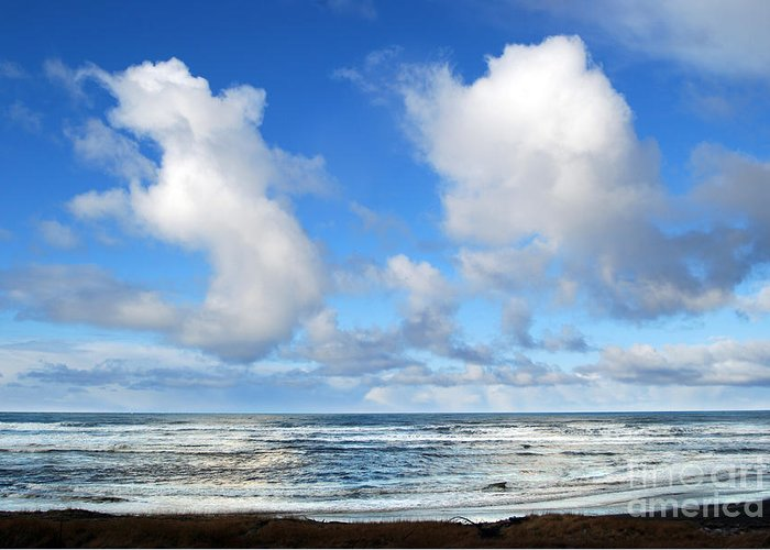 Ocean Greeting Card featuring the photograph Clouds At Play by Larry Keahey