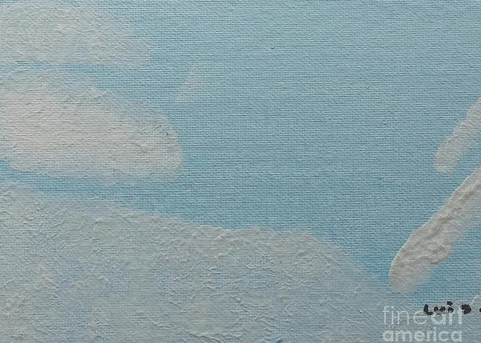 Clouds Greeting Card featuring the painting Clouds by Epic Luis Art