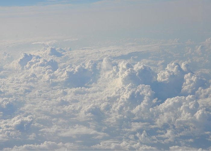 Clouds Greeting Card featuring the photograph Clouds Like Mountains Of Snow by Bill Cannon