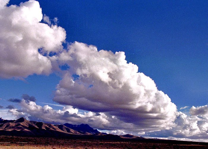 Landscape Greeting Card featuring the photograph Clouds Marching by Randy Oberg