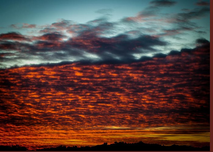Sunset Greeting Card featuring the photograph Clouds Of Fire by Brooks Creative -Photography and Artwork By Anthony Brooks