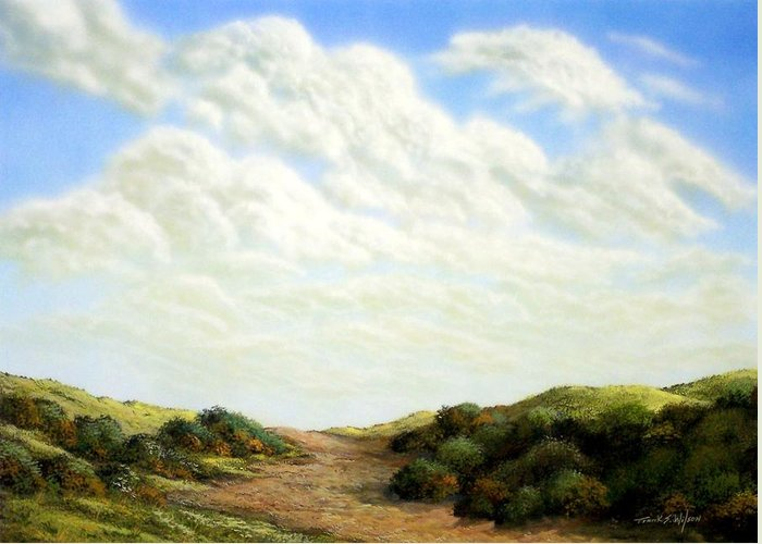 Landscape Greeting Card featuring the painting Clouds Of Spring by Frank Wilson