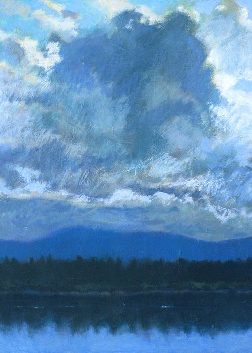 Cloud Greeting Card featuring the painting Clouds On The Kootenai by Robert Bissett