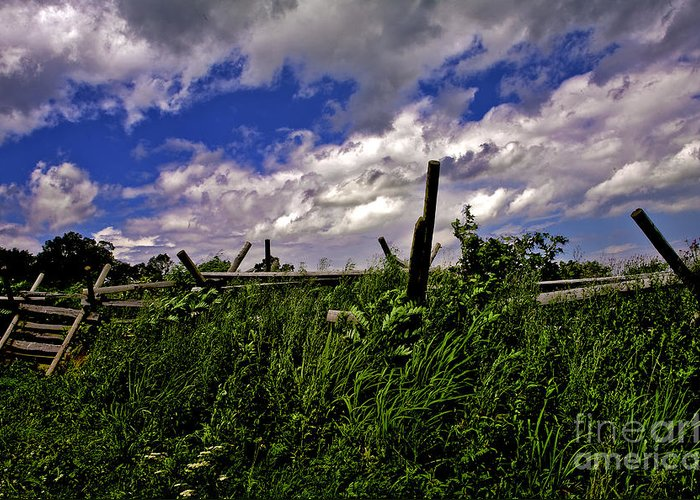 Field Greeting Card featuring the photograph Clouds Over Gettysburg by Madeline Ellis