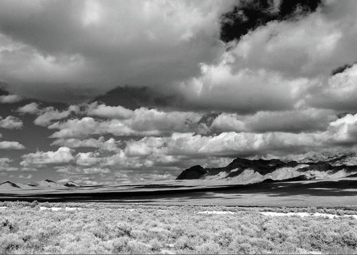 Clouds Greeting Card featuring the photograph clouds over Nevada desert by Thomas Panholzer