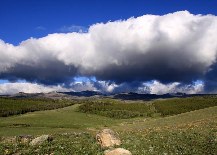 Landscape Greeting Card featuring the photograph Clouds Rolling In by MH Ramona Swift