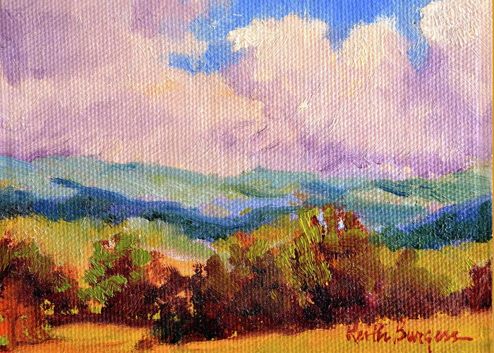 Impressionism Greeting Card featuring the painting Cloudscape 2 by Keith Burgess
