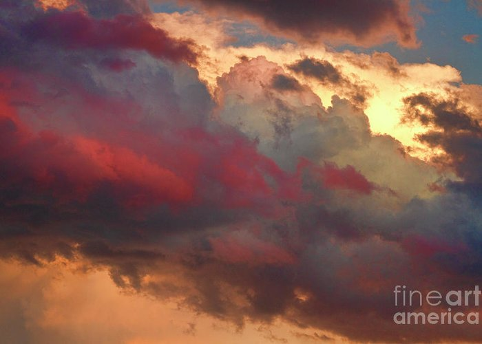 Sunsets Greeting Card featuring the photograph Cloudscape Sunset 46 by James BO Insogna