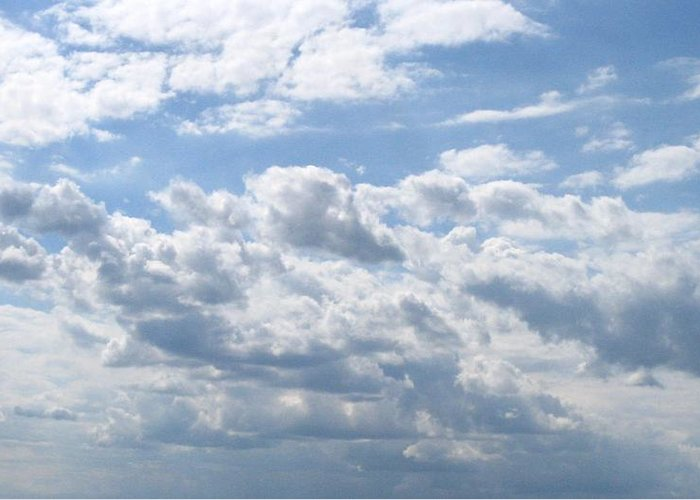 Clouds Greeting Card featuring the photograph Cloudy by Rhonda Barrett