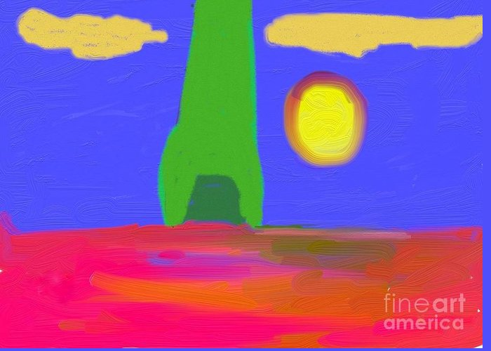 Digital Greeting Card featuring the digital art Cloudy Sky by Thomas Smith