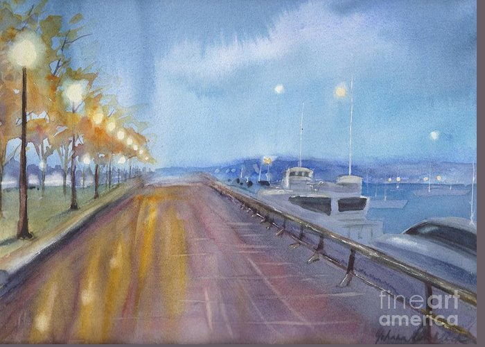 Vancouver Night Scene Greeting Cards