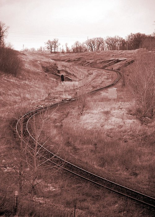 Coal Greeting Card featuring the photograph Coal Line S by Jame Hayes