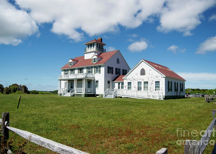 Coast Guard Building Greeting Card featuring the photograph Coast Guard Building, Cape Cod by Michelle Himes