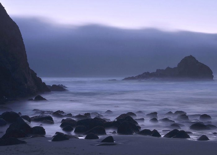 Big Sur Greeting Card featuring the photograph Coastal Fog - Big Sur by Stephen Vecchiotti