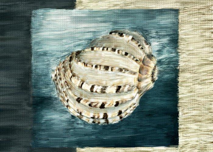 Seashell.seashells Greeting Card featuring the digital art Coastal Jewel by Lourry Legarde