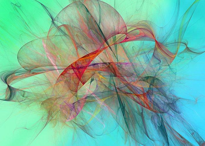 Kite Greeting Card featuring the digital art Coastal Kite by Betsy C Knapp