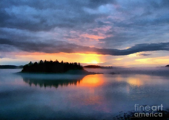 Maine Landscape Digital Art Greeting Cards