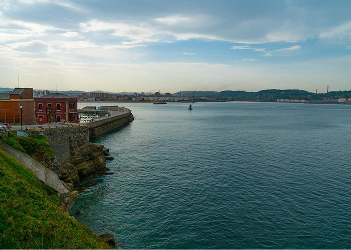 Spain Greeting Card featuring the photograph Coastline Of The Bay by Ric Schafer