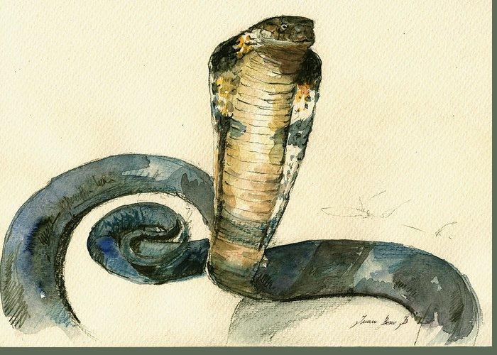 Brown Snake Greeting Cards