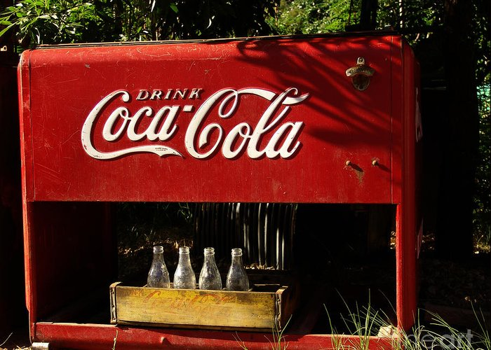 Coke Greeting Card featuring the photograph Coca-cola by Carol Milisen
