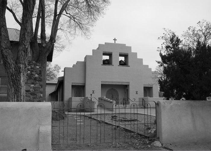 Architecture Greeting Card featuring the photograph Cochiti Church by Rob Hans