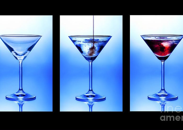 Alchoholic Greeting Card featuring the photograph Cocktail Triptych by Jane Rix