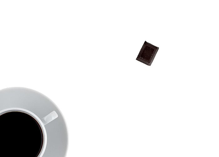 Au Lait Greeting Card featuring the photograph Coffee And Chocolade by Gert Lavsen