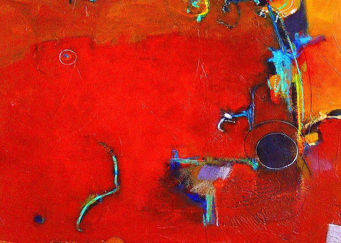 Abstract Greeting Card featuring the digital art Coffee Cafe by Dale Witherow