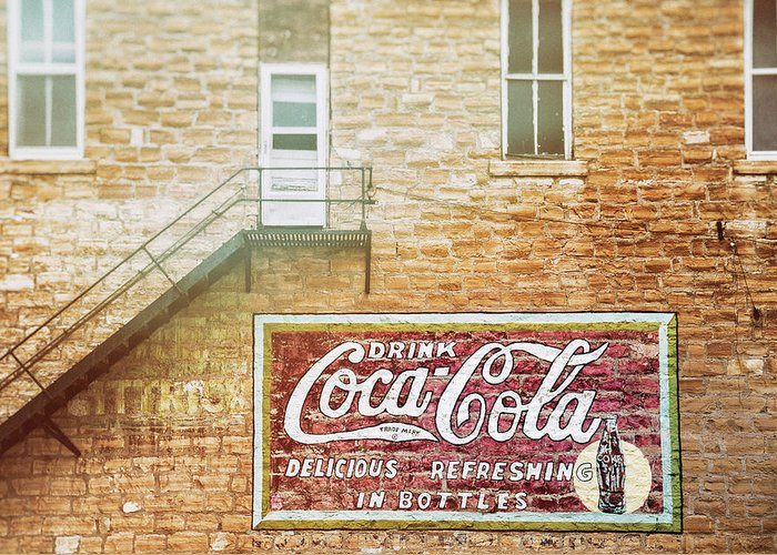 Coca-cola Mural Greeting Cards