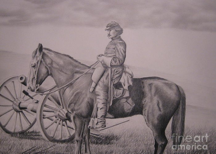 Western Greeting Card featuring the drawing Colburn by John Huntsman