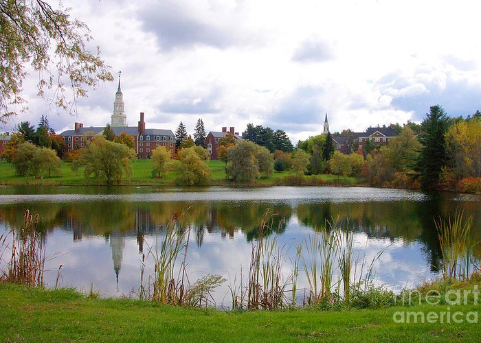 Linda Drown Greeting Card featuring the photograph Colby College by Linda Drown