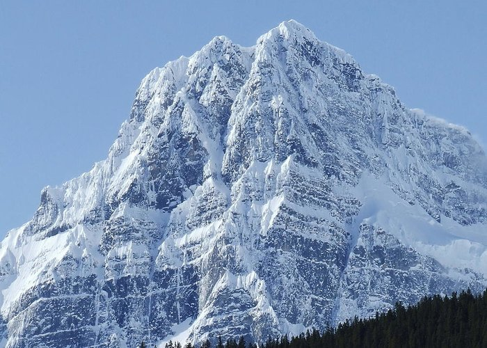 Cold Greeting Card featuring the photograph Cold Mountain- Banff National Park by Tiffany Vest