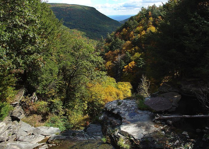 Kaaterskill Greeting Card featuring the photograph Cole's Roost The Kaaterskill Clove by Terrance De Pietro