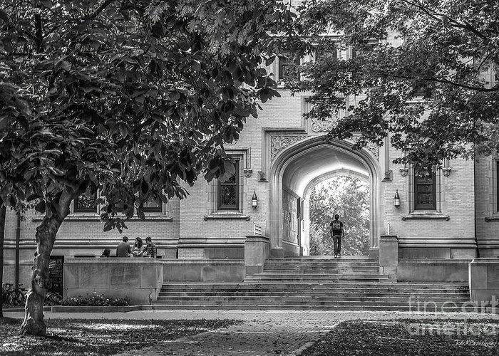 College Of Wooster Greeting Card featuring the photograph College Of Wooster Kauke Arch by University Icons