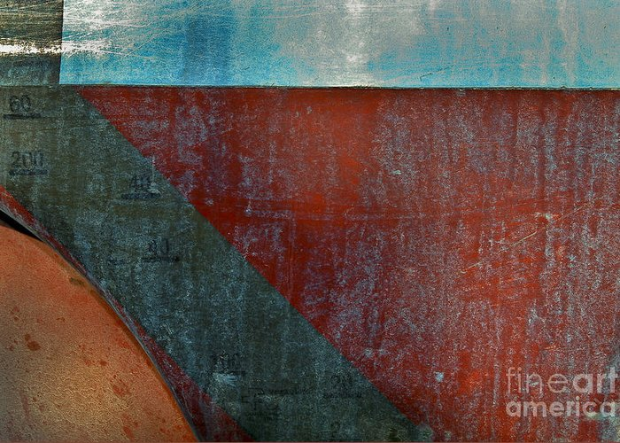 Abstract Greeting Card featuring the photograph Collelungo Abstract by Jon Cretarolo