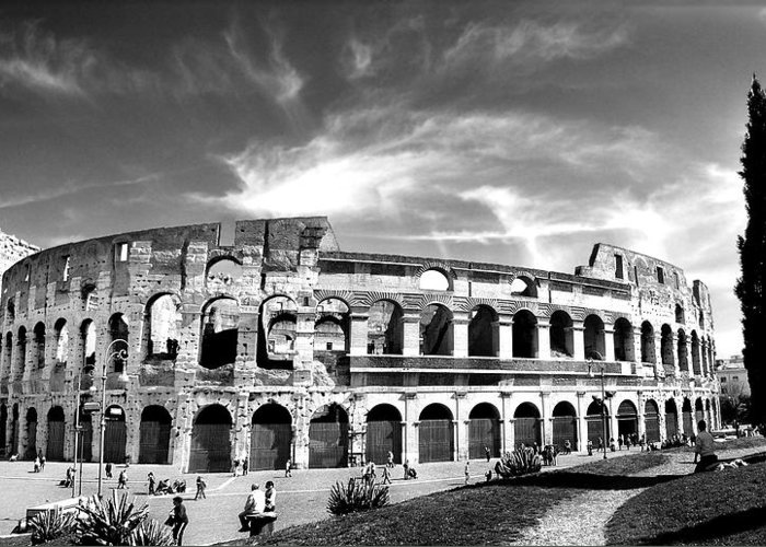 City Greeting Card featuring the photograph Colloseum by Hilthart Pedersen