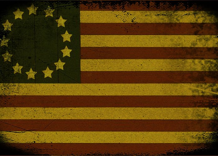 Colonial Flag Greeting Cards