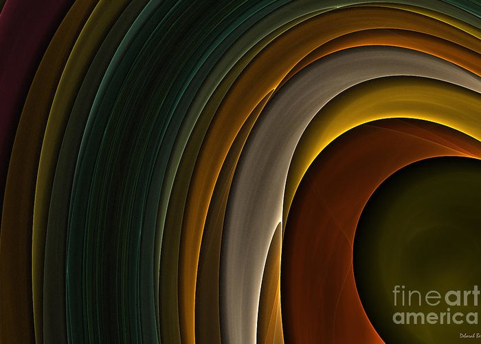 Digital Greeting Card featuring the digital art Color Curves by Deborah Benoit