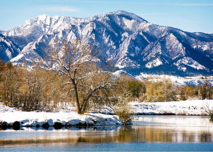 Colorado Greeting Card featuring the photograph Colorado Flatirons 2 by Marilyn Hunt