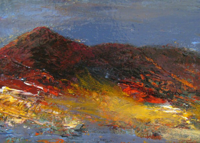 Mountain Greeting Card featuring the painting Colorado Glow by Marie Baehr