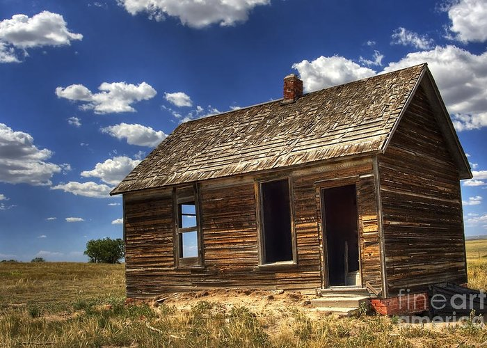 Landscape Greeting Card featuring the photograph Colorado Homestead by Pete Hellmann