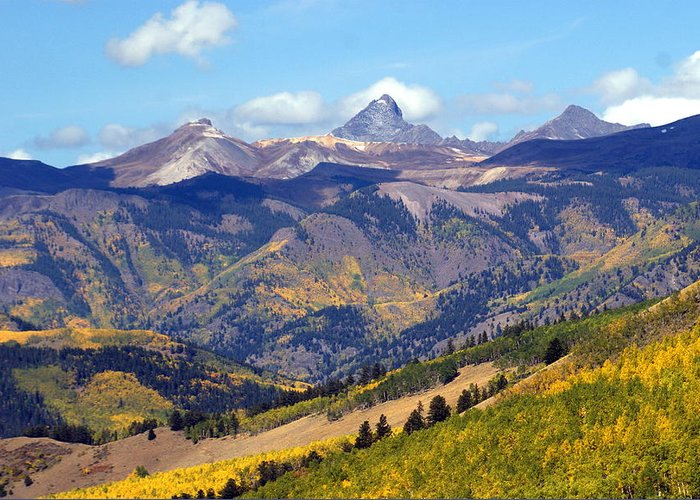 Mountains Greeting Card featuring the photograph Colorado Mountains 1 by Marty Koch