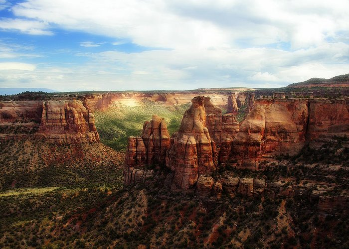 Americana Greeting Card featuring the photograph Colorado National Monument by Marilyn Hunt