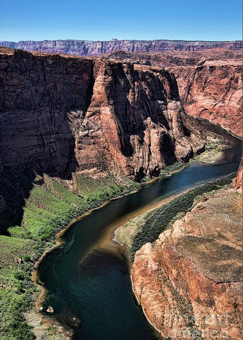 Horseshoe Bend Greeting Card featuring the photograph Colorado River Horseshoe Bend by Chuck Kuhn