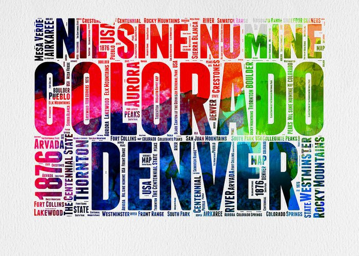 Rocky Mountain States Greeting Cards