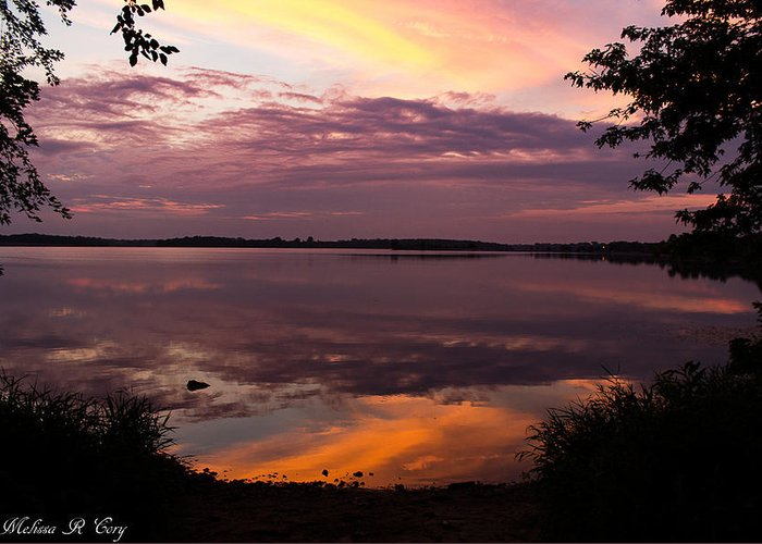 After Glow Greeting Card featuring the photograph Colored Reflections by Melissa Cory